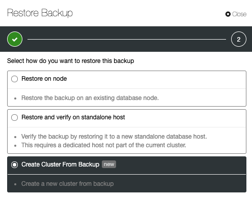 Restore Backup with ClusterControl