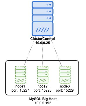 ClusterControl monitoring multiple instances on same host