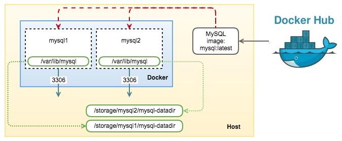 Mysql docker container