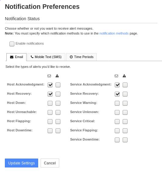 Nagios XI Notification Preferences