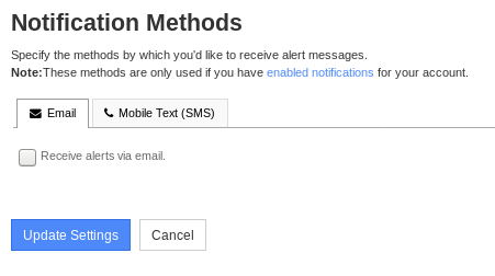 Nagios XI Notification Methods