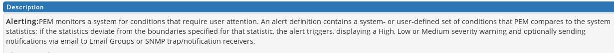 Postgres Enterprise Manager Email & SNMP alerting