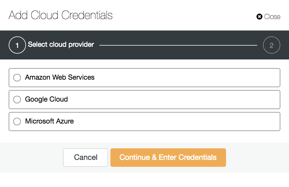 ClusterControl: Managing Cloud Credentials