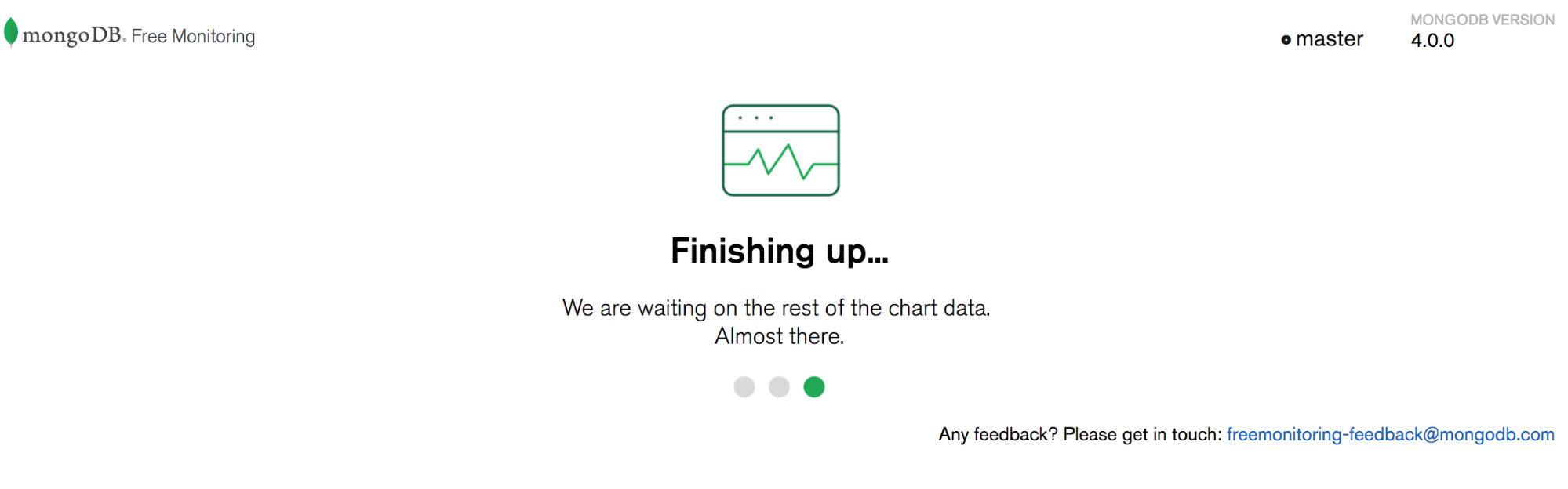 MongoDB Free Monitoring first use