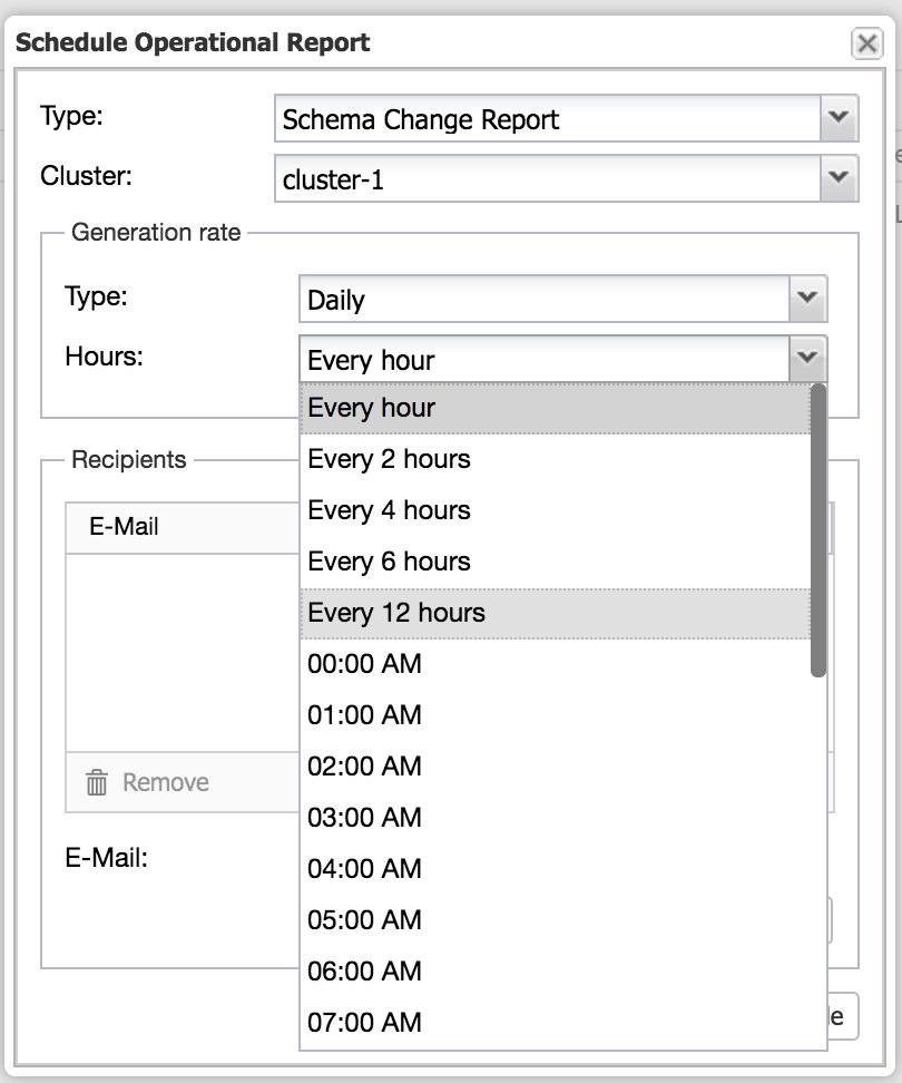 ClusterControl: Schedule Operational Report