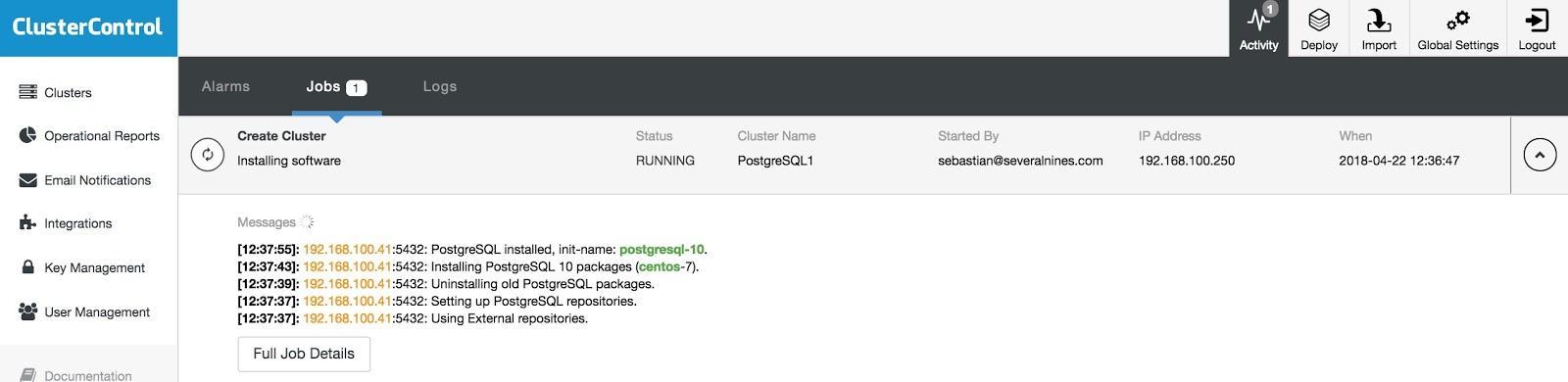 ClusterControl PostgreSQL Deploy 5