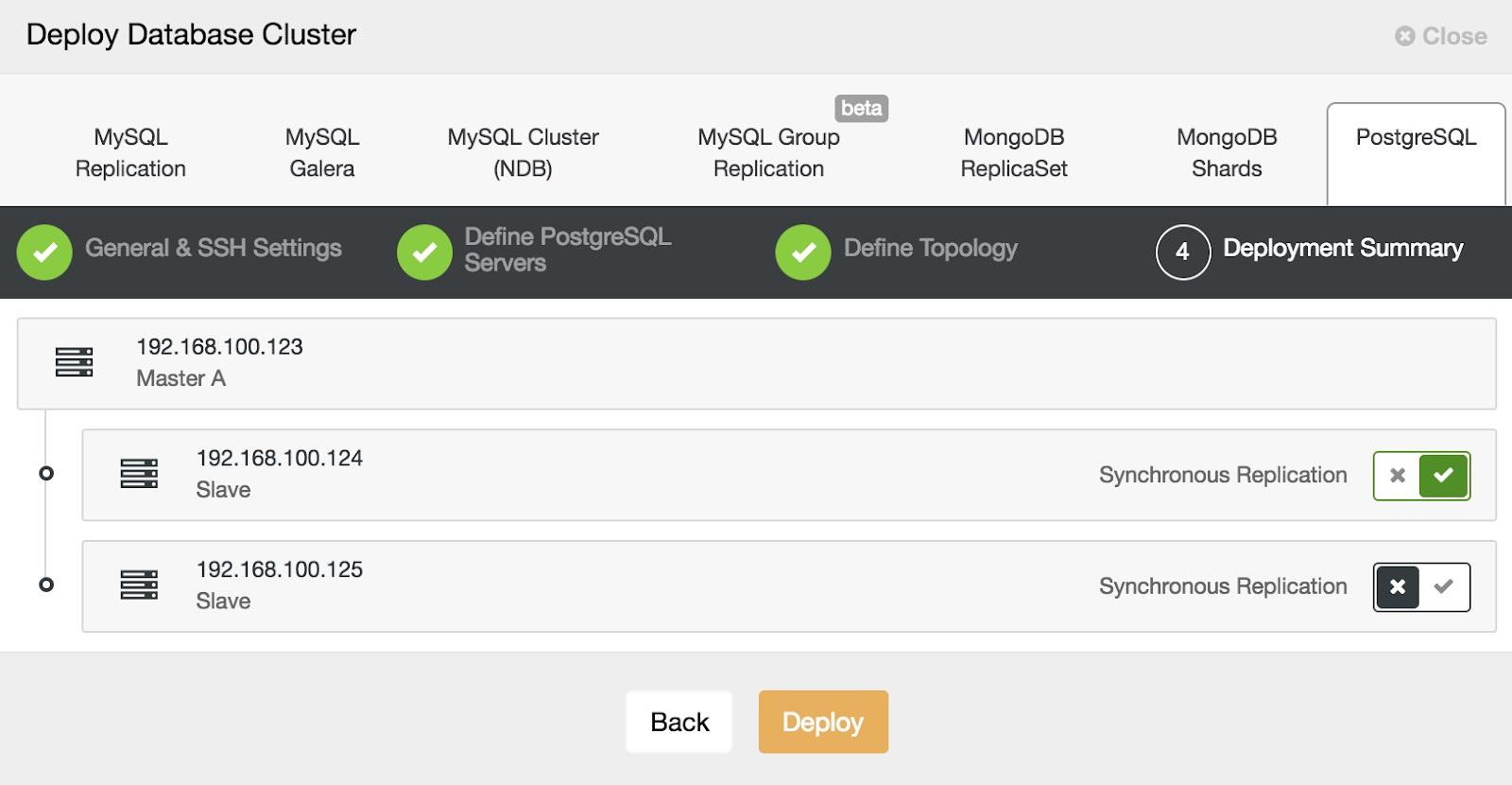 ClusterControl PostgreSQL Deploy 4