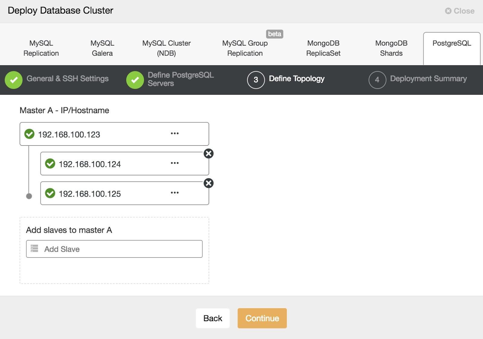 ClusterControl PostgreSQL Deploy 3