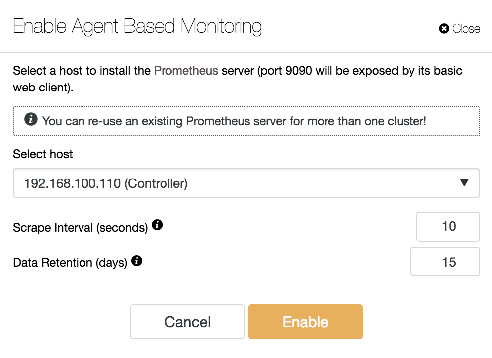 ClusterControl Enable Agent Based Monitoring