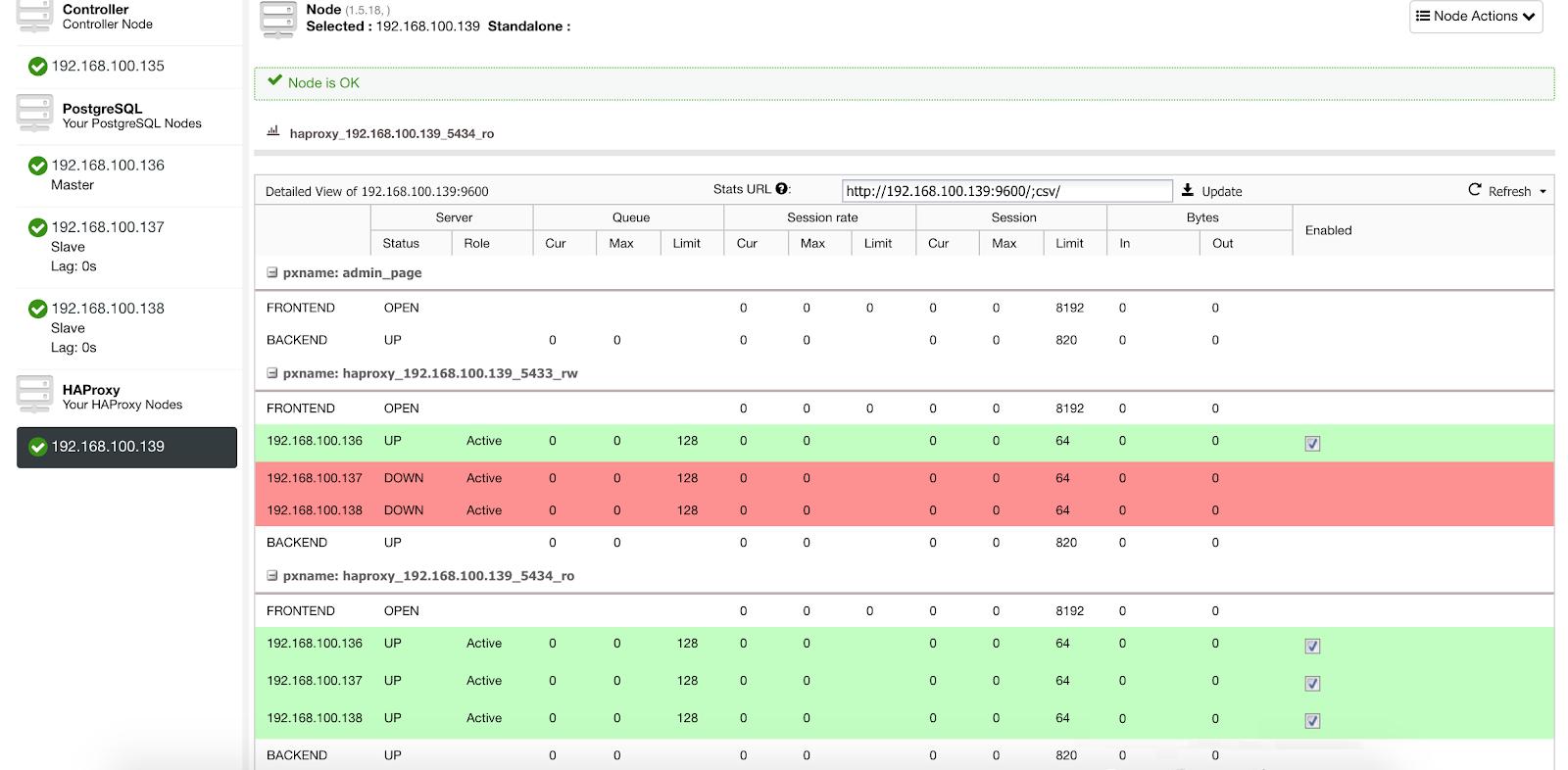 ClusterControl Load Balancer Stats 1