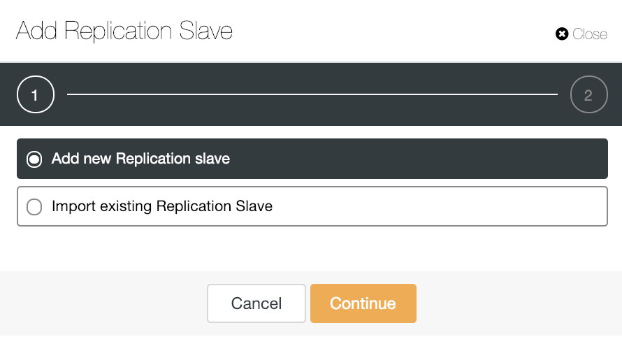 ClusterControl Add Replication Slave Option