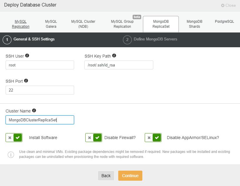 ClusterControl Deploy Database Cluster