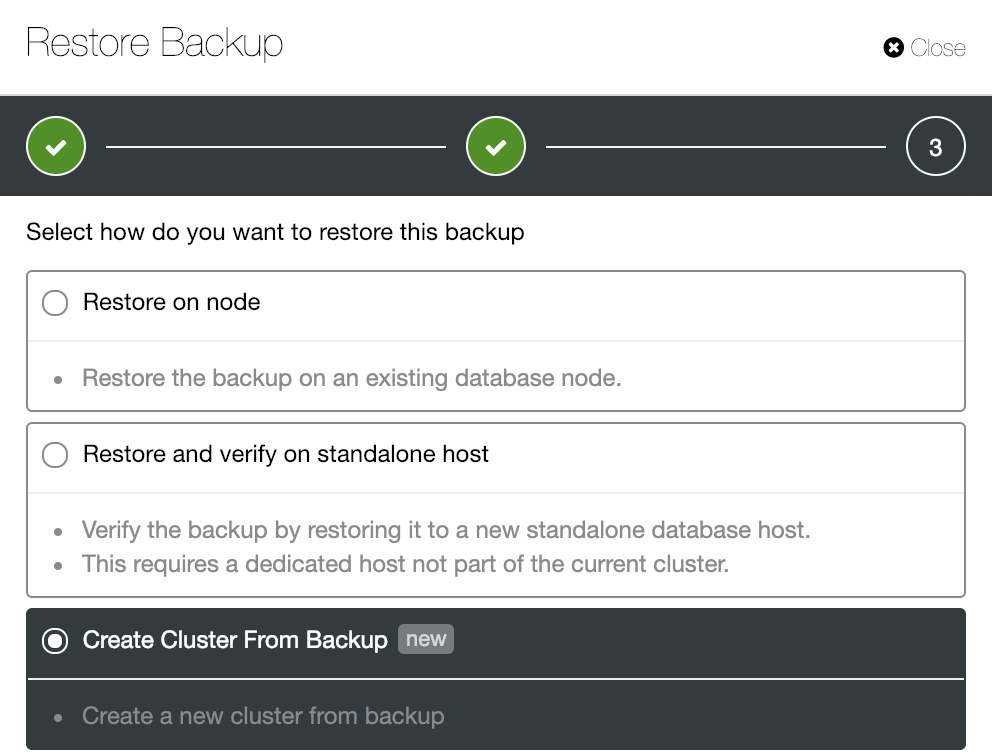 Automate Deployment of your MySQL or Postgres Cluster from Backup