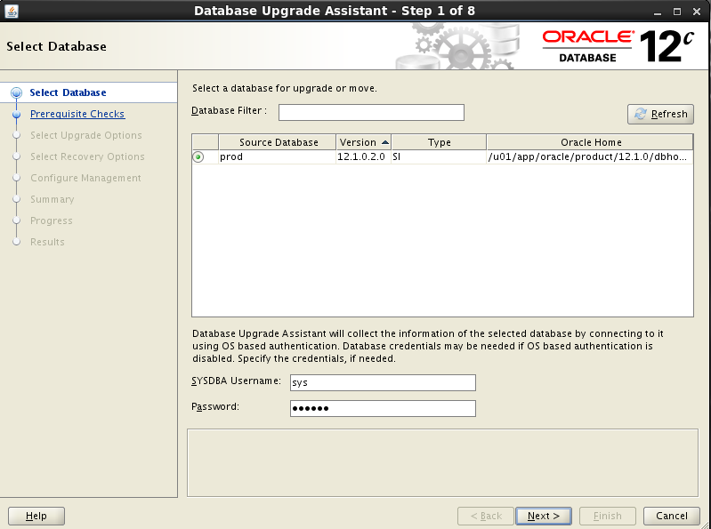 Oracle DBCA - database creation