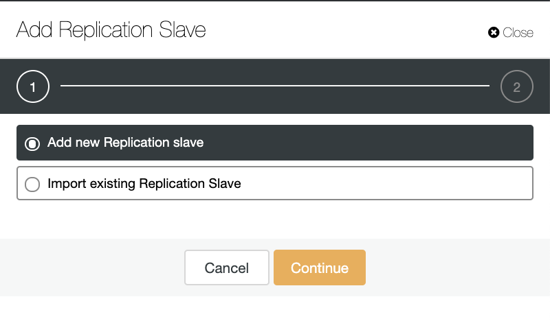 ClusterControl: Add new Replication slave, Import existing Replication Slave