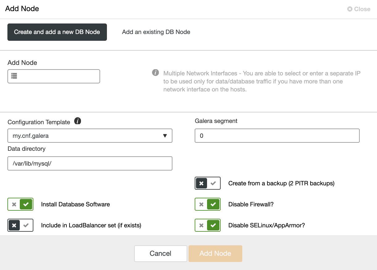 ClusterControl: Adding MariaDB Node