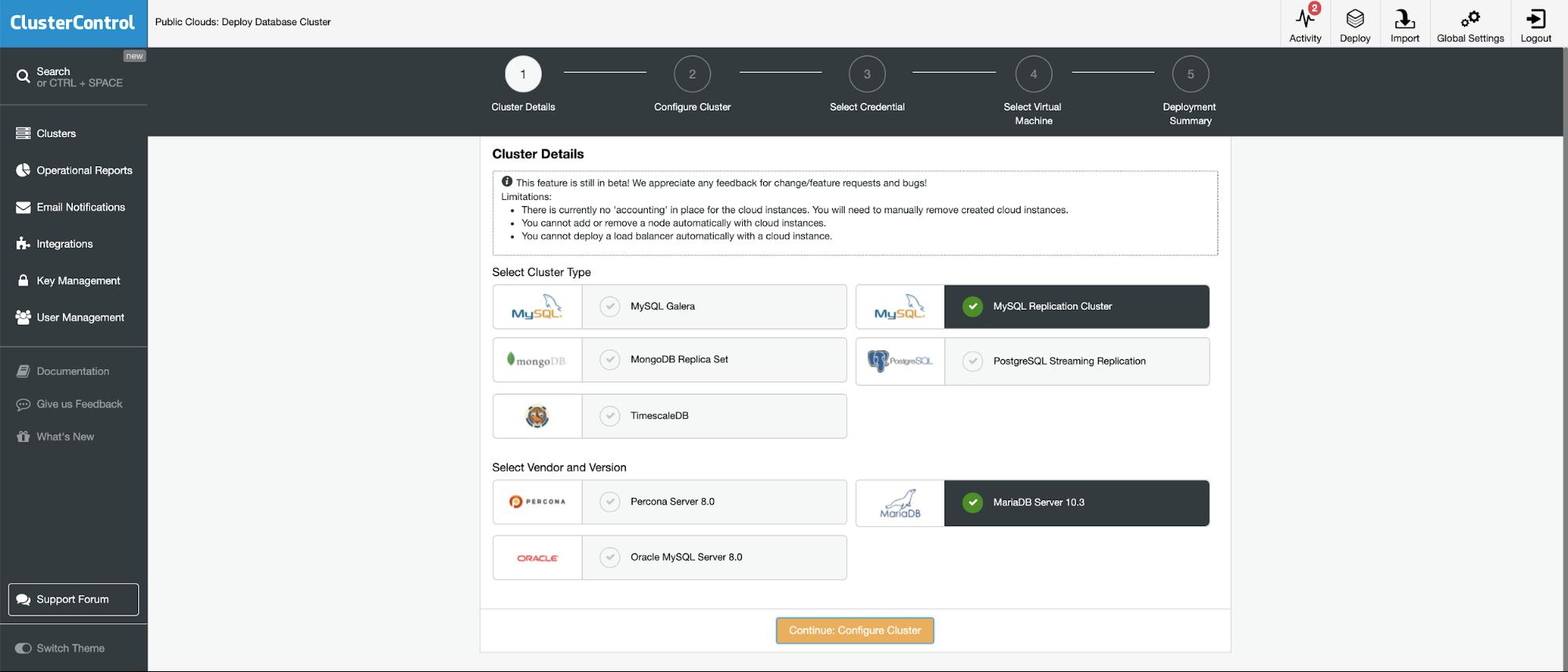 ClusterControl - Deploy MySQL Replication Cluster