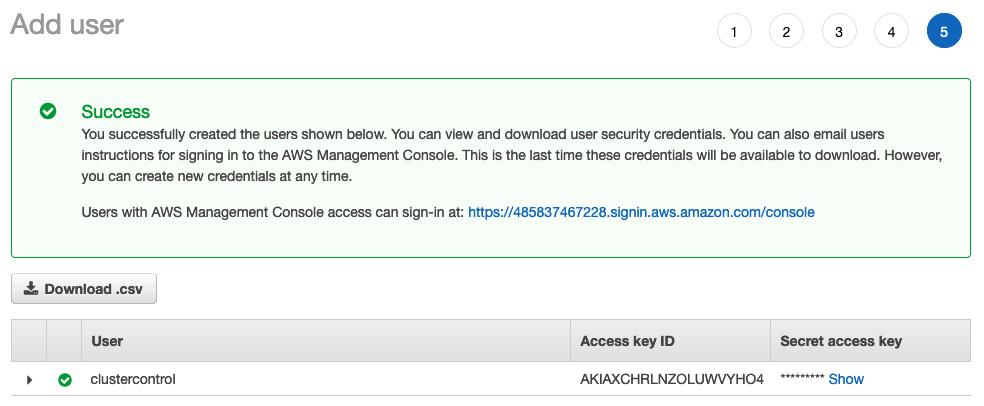 Add User Confirmation AWS