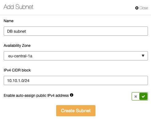 Add Subnet ClusterControl