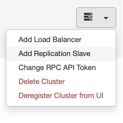 Adding a Database Slave with ClusterControl