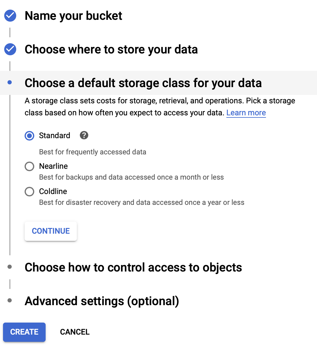Choose Storage Class - Google Cloud