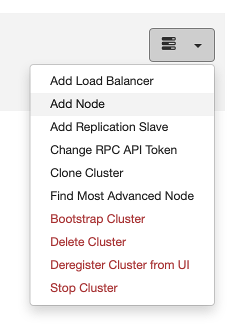 Add a Database Node - ClusterControl