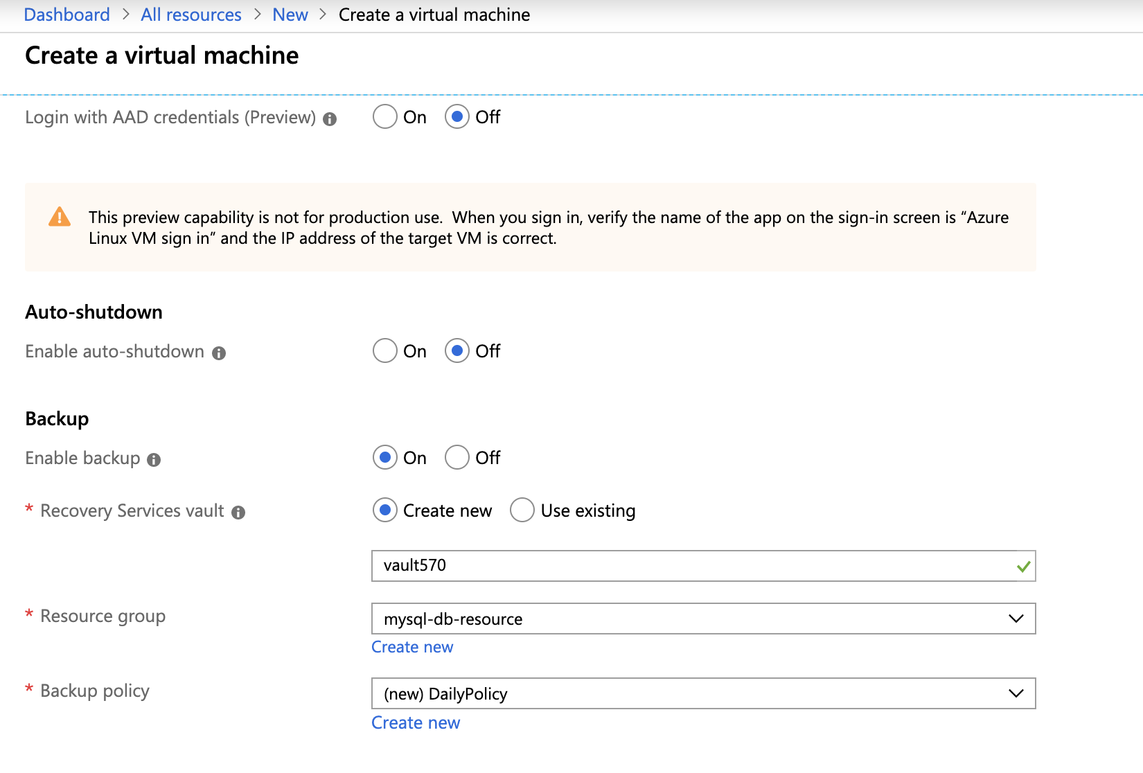 Create a Virtual Machine - Azure