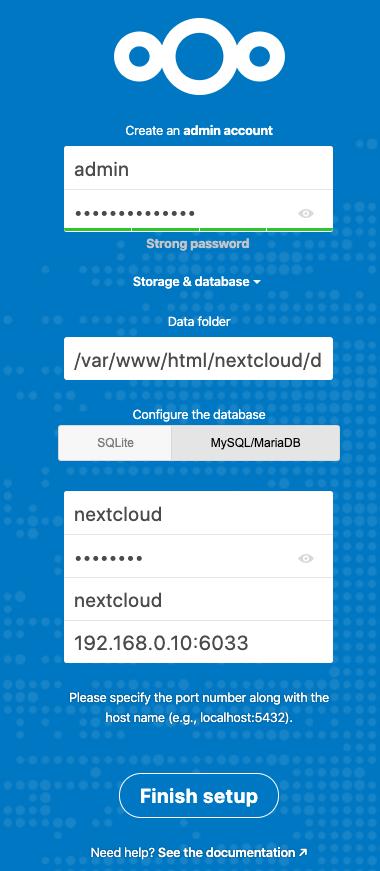 Nextcloud Account Setup
