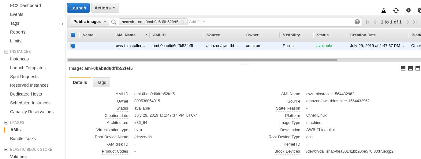 AWS Storage Gateway: Client instance details
