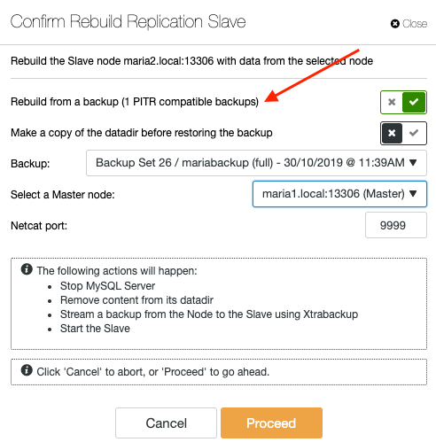 Rebuild Database Replication Slave