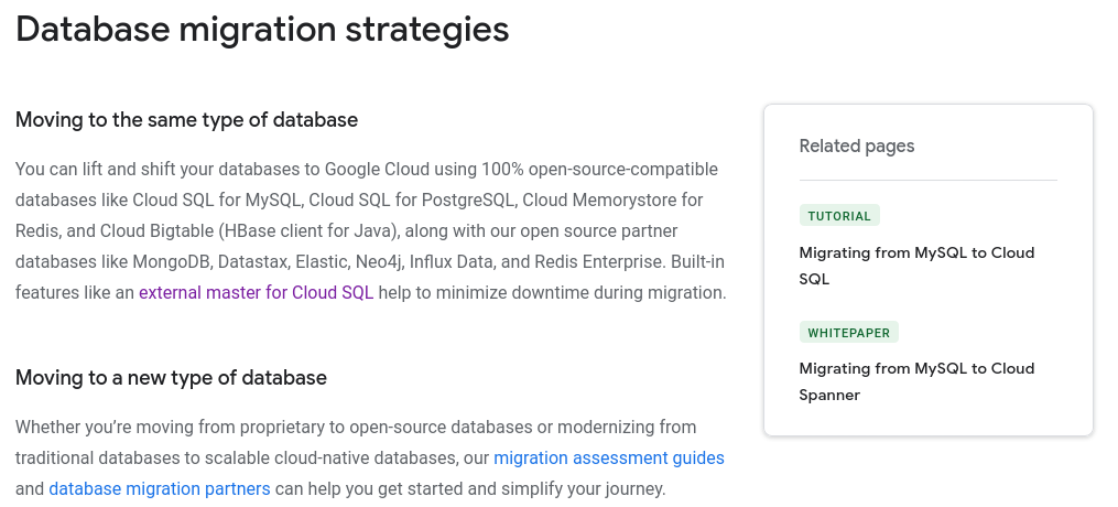 GCP: migrating to Cloud SQL - not available for PostgreSQL.