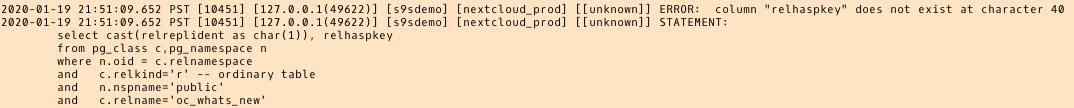 PostgreSQL error log: relhaspkey error - another AWS DMS 3.3.0 beta version glitch?