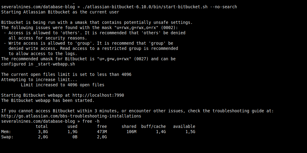 3.7. Executing without Elasticsearch (Saves 1 GB of RAM).