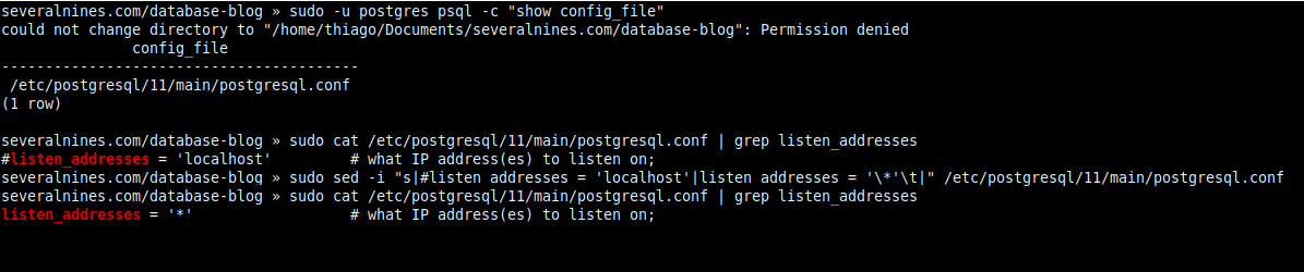 2.3. Allowing remote connections (postgresql.conf).