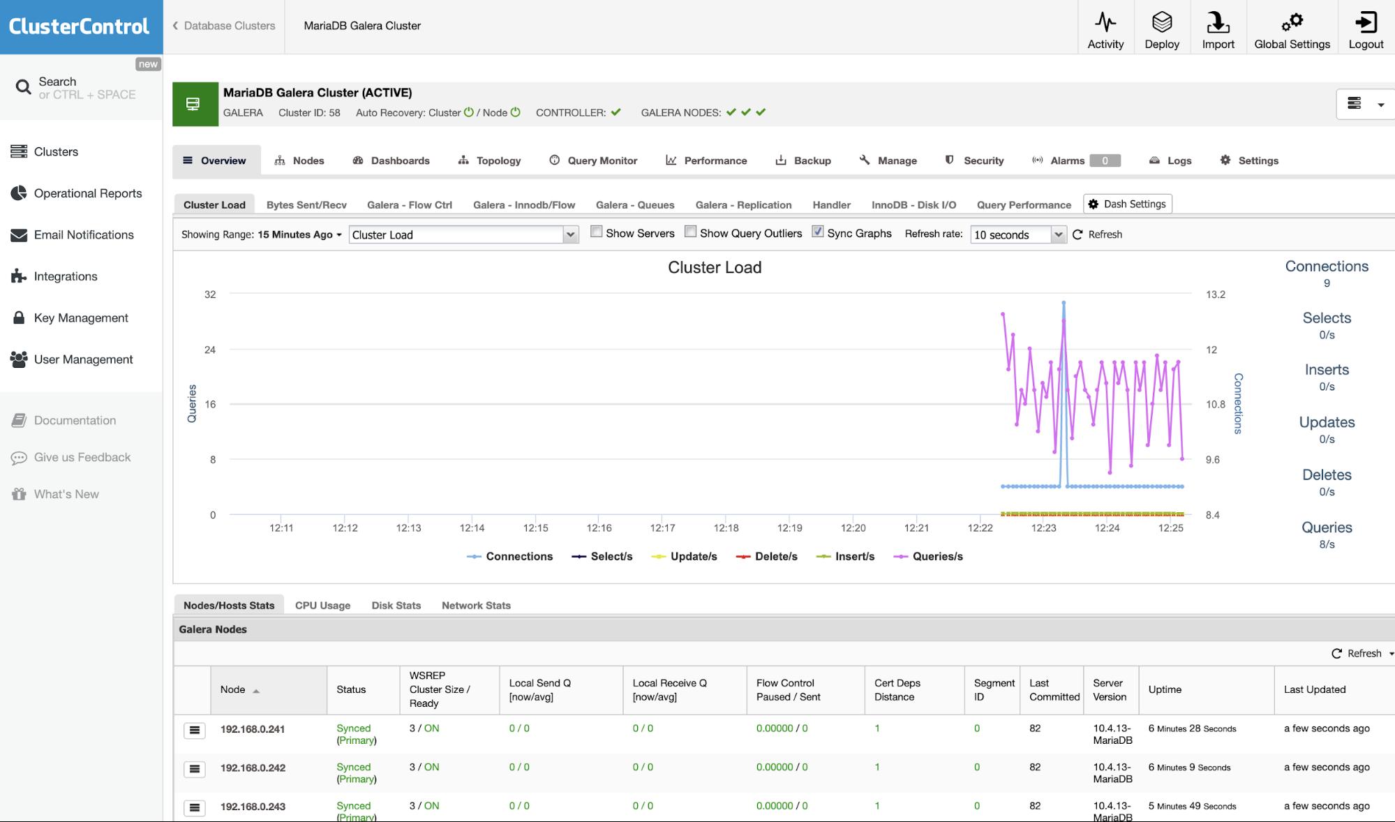 Import MariaDB Cluster