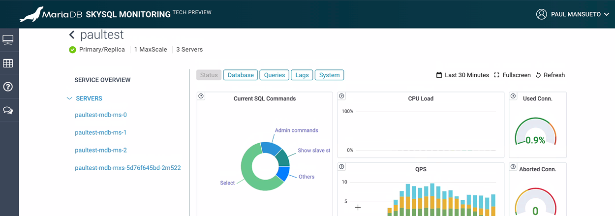 MariaDB SkySQL Monitoring