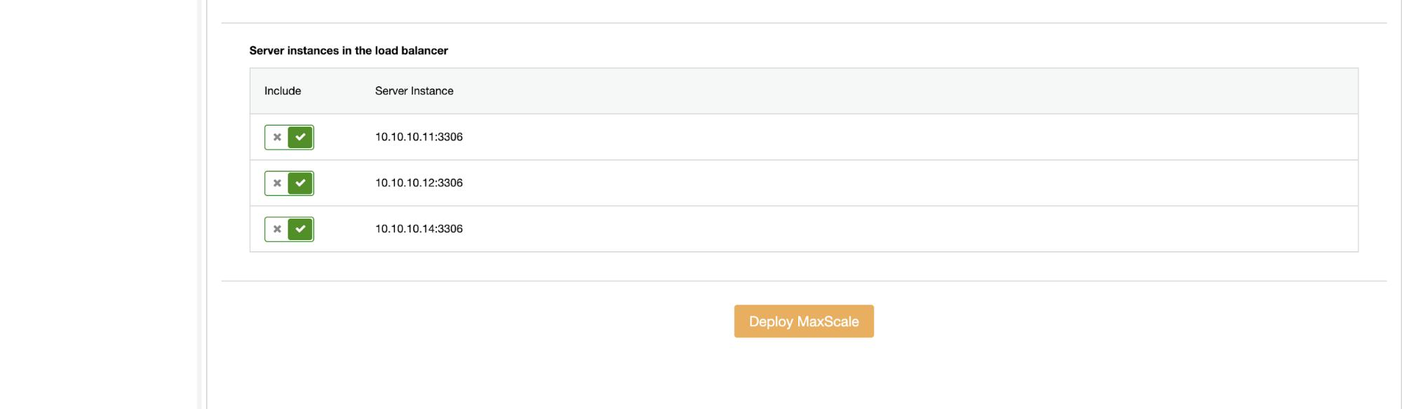 MariaDB Cluster Deployment