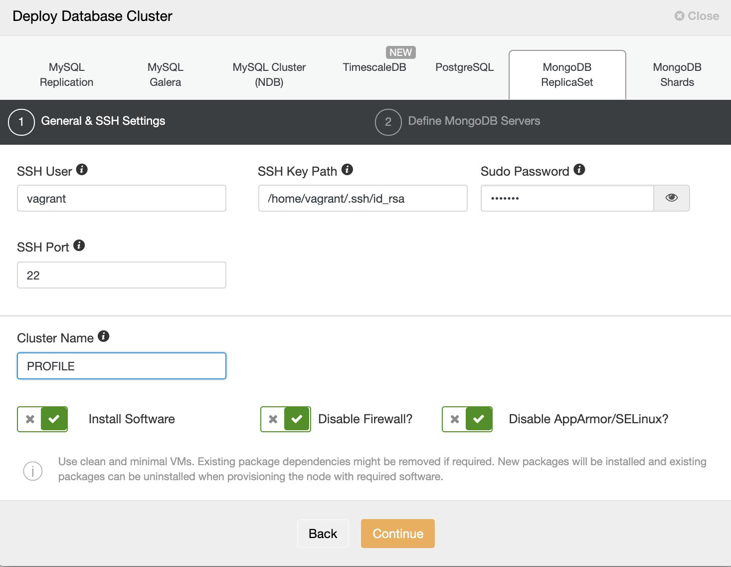 Deploy Percona Server for MongoDB using ClusterControl